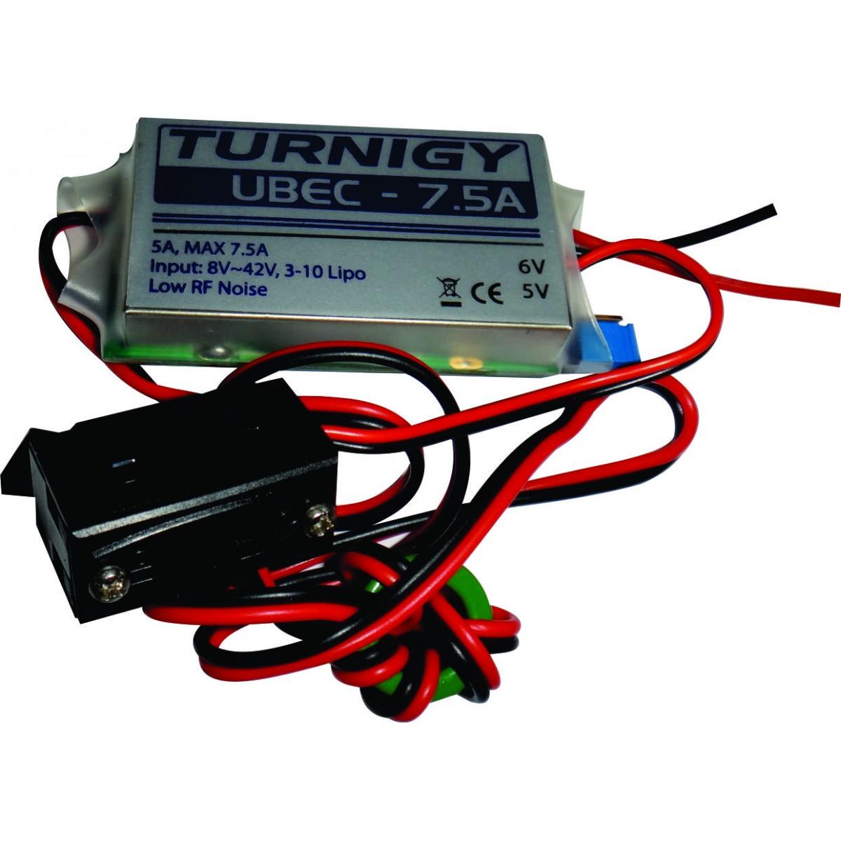 Ultra Bec Regulador De Voltagem 7.5a - Turnigy - 5-6v Saída  - King Models