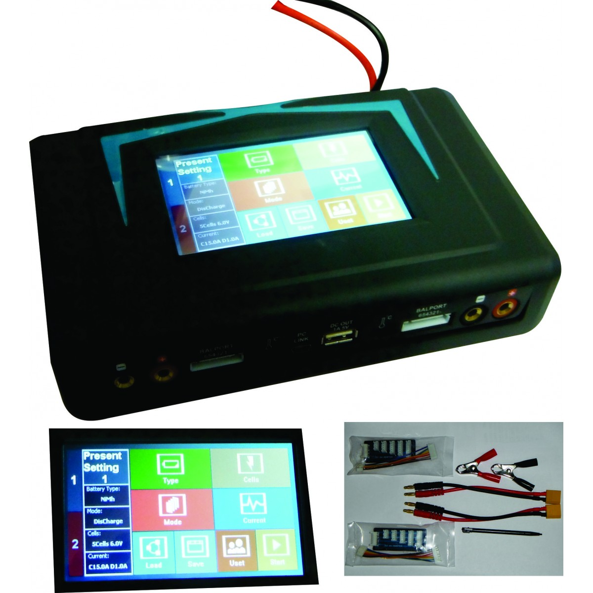 Carregador Digital Imax Dual 400w-Touch Screen-Carrega Tudo!!!!  - King Models