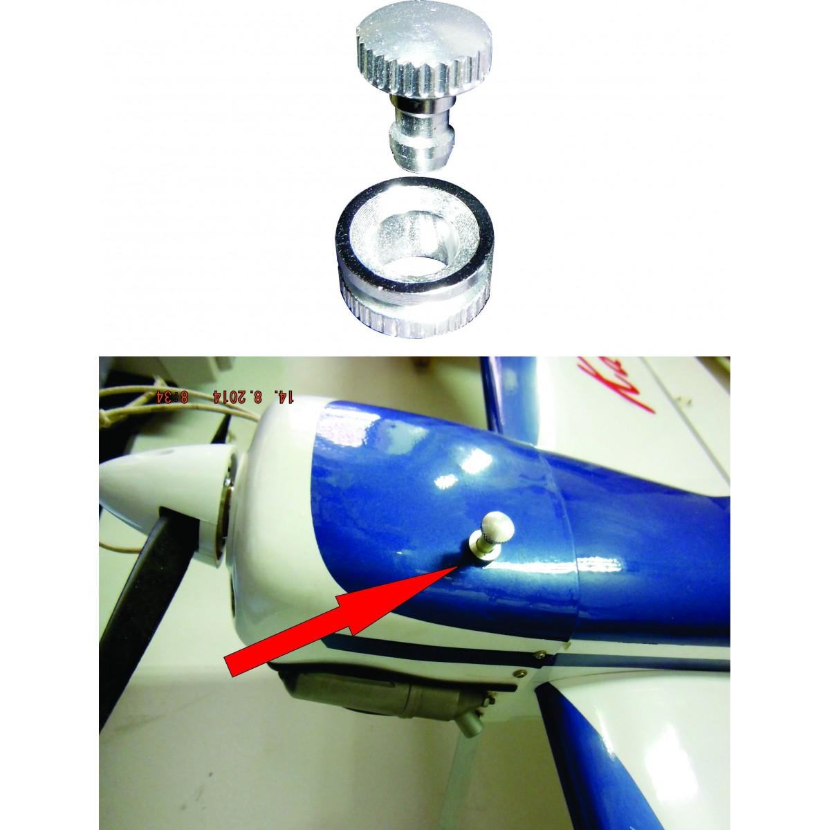 Válvula De Abastecimento E Acabamento - Pequena - Aeros Glow   - King Models