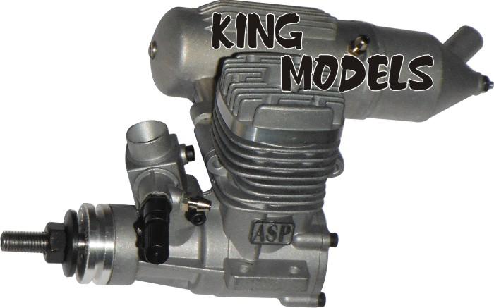 Motor Glow - Asp 25a - 2 Tempos - Rolamentado  - King Models