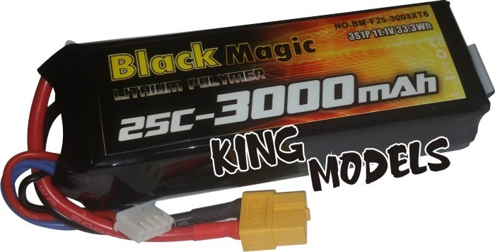 Bateria Lipo Magic-3s 11,1v-25c-3000mah-dji Phantom++tempo!!  - King Models