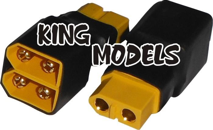 Plug Adaptador Xt60 Paralelo-produção Própria/solda+segura  - King Models
