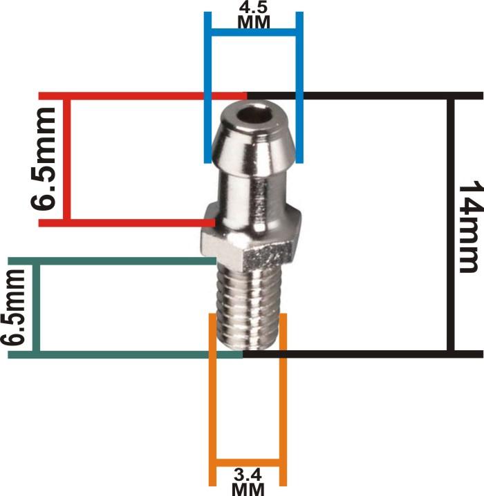 Nipple 3.5mm para motores Os Engines Cód. 22681957  - King Models