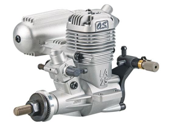 Motor Glow-os.max-.25la-2 Tempos-abn Com Mufla E Conexões!!  - King Models