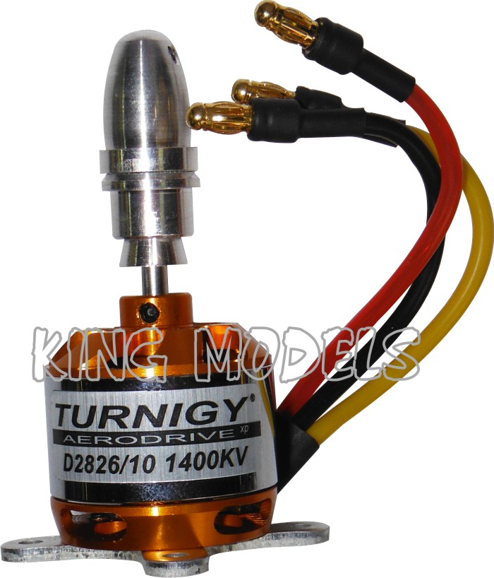 Motor Brushless Turnigy 2826-1400kv -230w - Aeros Até 800g  - King Models
