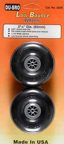 Roda De Borracha Du-bro Para Aeros Glow/elétrico-3´x1/4- 83mm  - King Models