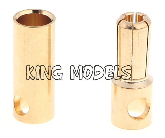 Conector Bullet (banana)-5.5mm-2xpares+retrátil Brinde!!!  - King Models