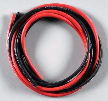 Fio Siliconado Awg 14 alta Descarga-50cm-preto/50cm-vermelho  - King Models