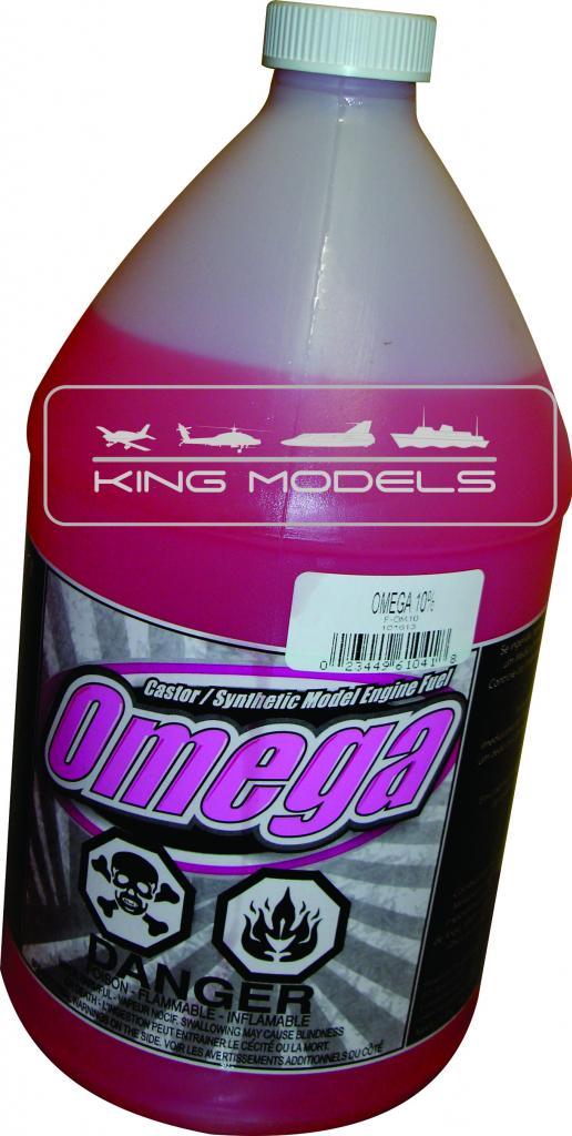Combustível Omega-10%nitro-17%óleo-aeromodelos-frasco 1.litro  - King Models