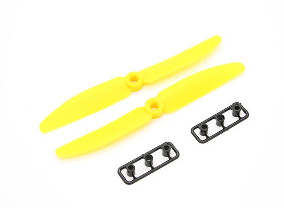 Hélice Gemfan P/ Drones Racers-5030-normal/reversa-amarela  - King Models