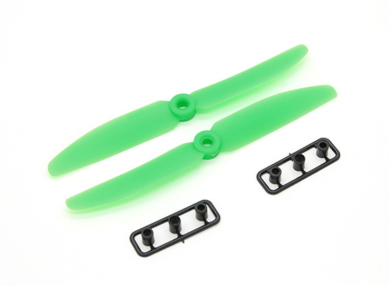 Hélice Gemfan P/ Drones Racers-5030-normal/reversa-verde  - King Models