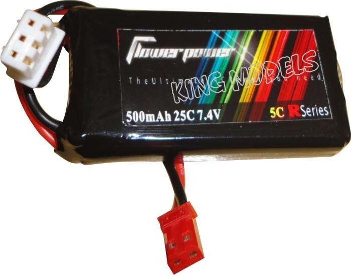 Bateria Lipo Flower Power-2s 7.4v-25c-500mah  - King Models