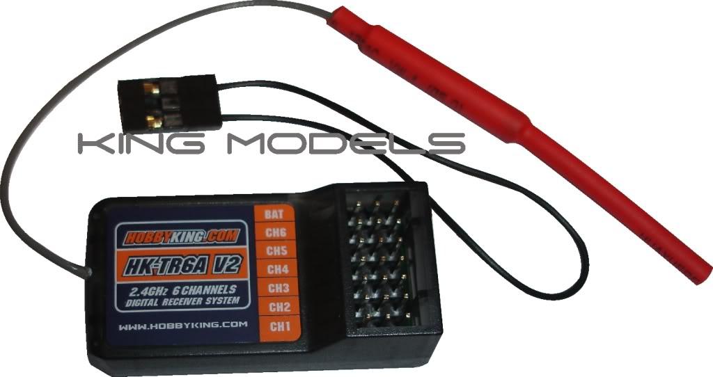 Receptor Para Rádios Hobby King - Nova Versão - Hk-tr6a V2  - King Models