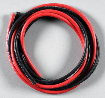 Fio Siliconado Awg 18 alta Descarga-50cm-preto/50cm-vermelho  - King Models