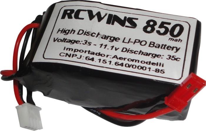Lipo Rcwins 3s 11,1v-35c -850mah-excelente Para Shock Flyer!  - King Models