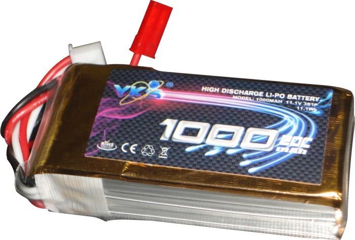 Lipo Yks 3s 11,1v-20/30c - 1000mah - Plug Jst Descarga  - King Models