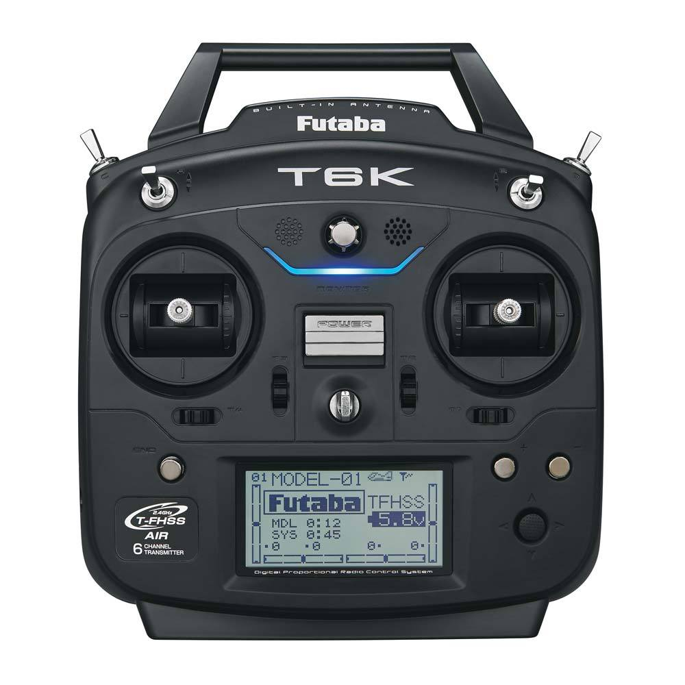 Rádio Futaba 6k - 6canais - S.bus/telemetria-aero/heli/drone  - King Models
