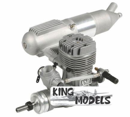 Motor Glow - Asp 52aii - 2 Tempos - Agulha Remota  - King Models