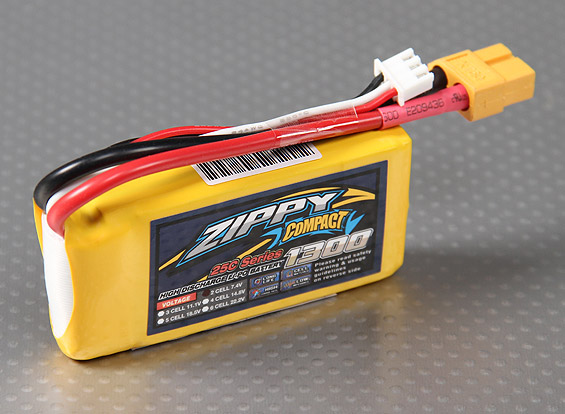 Lipo Zippy/compact 2s 7.4v-25/35c - 1300mah  - King Models