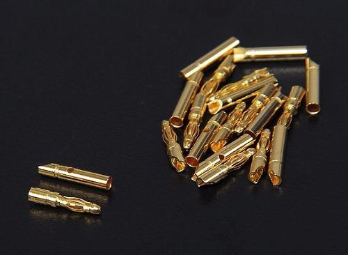 Conector Bullet-2mm-(banana) 4 Pares( M.e F)+tubo Retrátil  - King Models