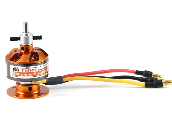 Motor Brushless Rctimer 2822 - 1200kv + Salva-hélice+bullet  - King Models
