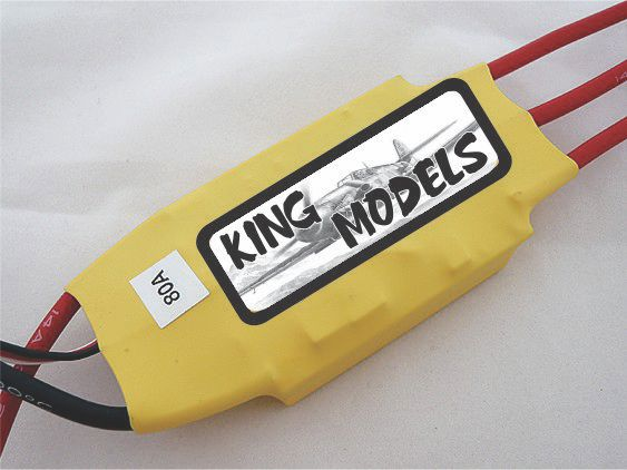 Speed Control Rctimer 80a Opto(sem Bec)-suporta 8s!   - King Models