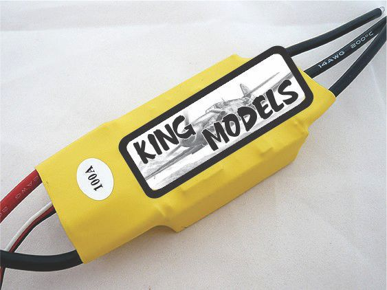 Speed Control Rctimer 100a Opto(sem Bec)-suporta 7s!  - King Models