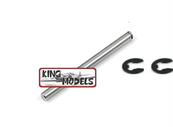 2xeixos 3mm X 48mm - Motores Brushless + 4x Clips Travamento  - King Models