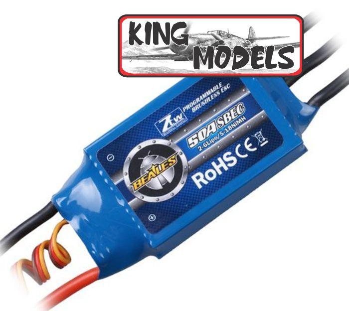 Speed Control Ztw 50a Com Super Bec Integrado 3a ++ Brinde!!  - King Models
