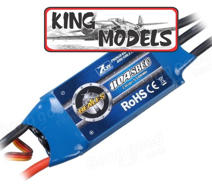 Speed Control Ztw 80a Com Super Bec Integrado 3a ++ Brinde!!  - King Models