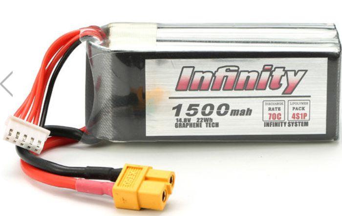 Bateria Lipo Infinity 4s 14.8v 1500mah 70c-drones Racers!!!  - King Models