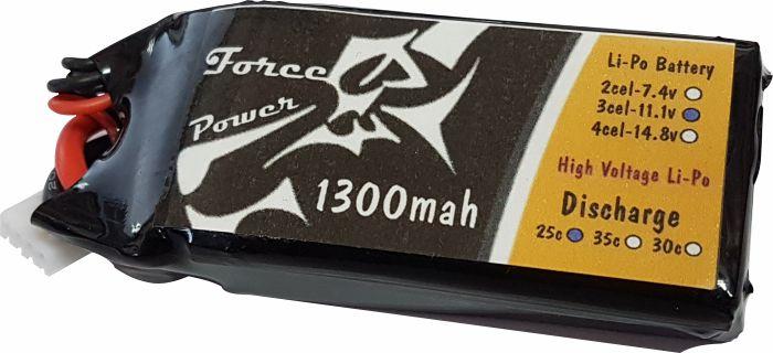 Lipo Force Power 3s 11.1v 1300mah 25/30c - Aeros/mini Drones  - King Models