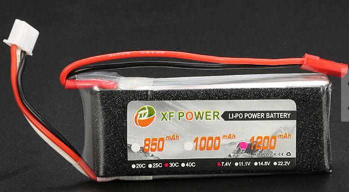 Bateria Lipo Xf 2s 7.4v 1200mah 30/35c  - King Models