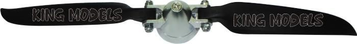 Hélice Folding(dobrável)-9x6-para Planadores-eixo 3.17mm  - King Models