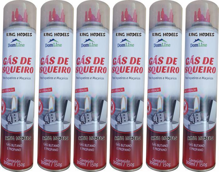 Gás Butano 300ml-6xfrascos-recarga De Isqueiros E Maçaricos  - King Models