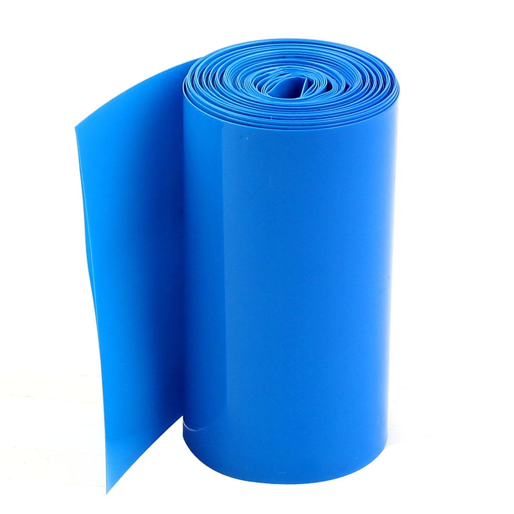 Tubo Termo-retrátil Azul De Pvc 70mm(chato)-diametro44mm  - King Models