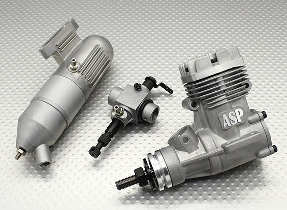 Motor Glow - Asp 32a - 2 Tempos - Carburador frontal  - King Models