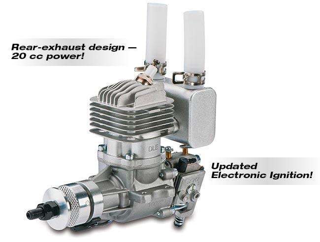 Motor Gasolina Dle 20cc-ra - Ignição Suporta Li-po Ou Li-fe  - King Models