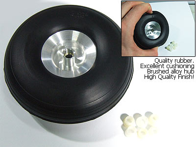 Roda De Borracha E Cubo Alumínio- Aero Glow/gasolina-44mm  - King Models