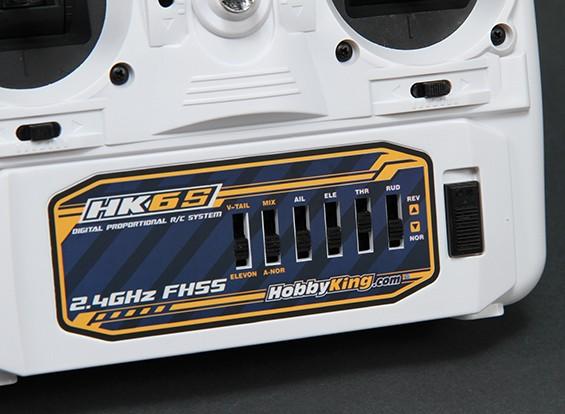 Rádio Hk 6 Canais 2.4ghz - Fhss - Branco - Com Função Mix!!!   - King Models
