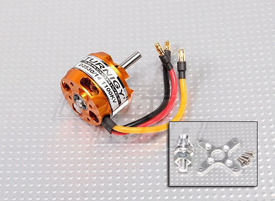 Motor Brushless Turnigy 3530-1100kv - Aeros Até 1,3kg  - King Models