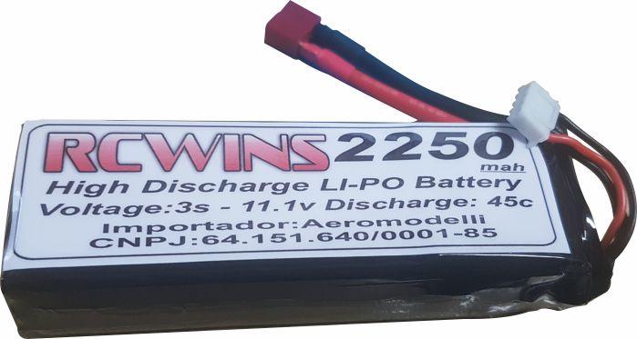 Bateria Lipo Rcwins 3s 11.1v 2250mah-45-55c - Aeros/helis  - King Models