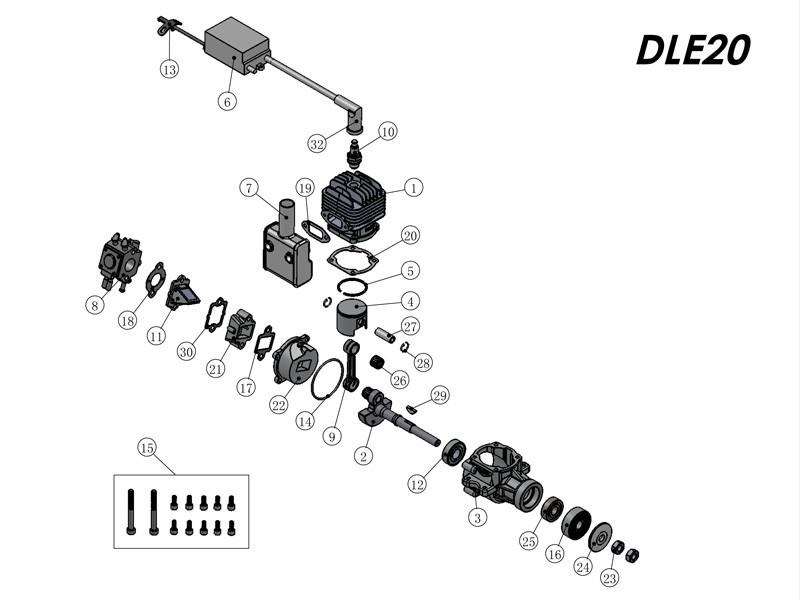 Biela Para Motores Dle 20cc Normal E Ra - Original!  - King Models