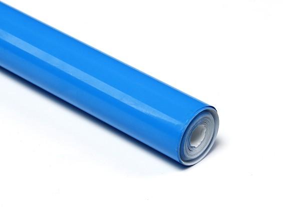 Rolo 5xmts Chinakote ( Monokote )- Azul Turquesa - 640mm   - King Models