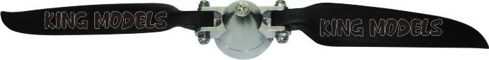 Hélice Folding(dobrável)-8x6-para Planadores-eixo 2mm   - King Models