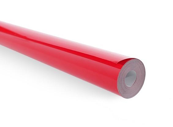 Rolo 5xmts Chinakote ( Monokote )- Vermelho Sólido - 640mm  - King Models