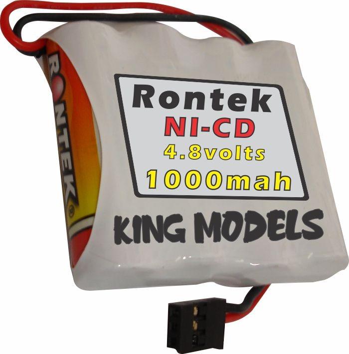Pack Bateria Nicd 4,8v - 1000mah Rontek - Aeros Combustão   - King Models
