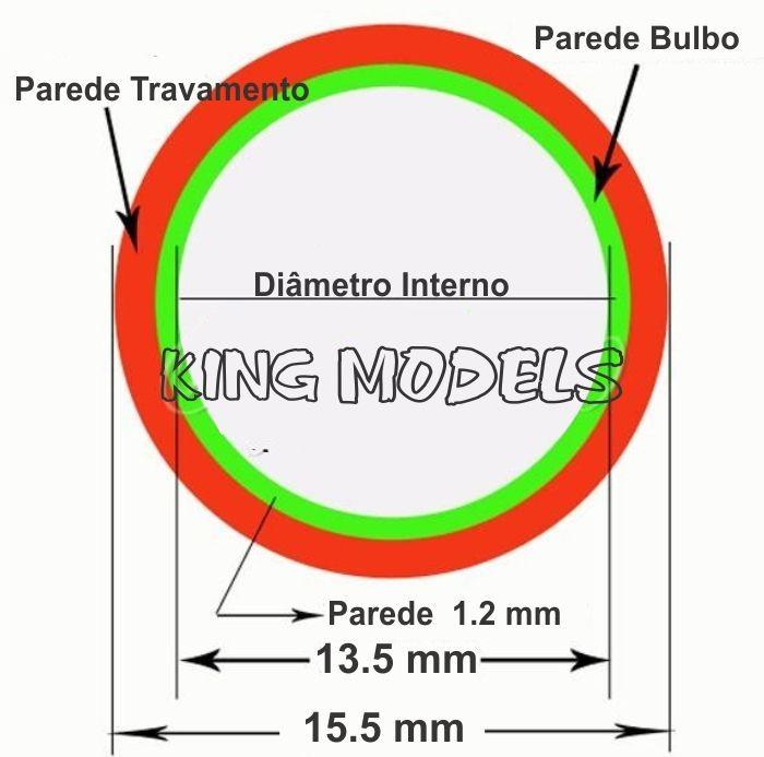 Bulbo Injetor De Carburador Para Roçadeiras 15mm - 5pçs   - King Models
