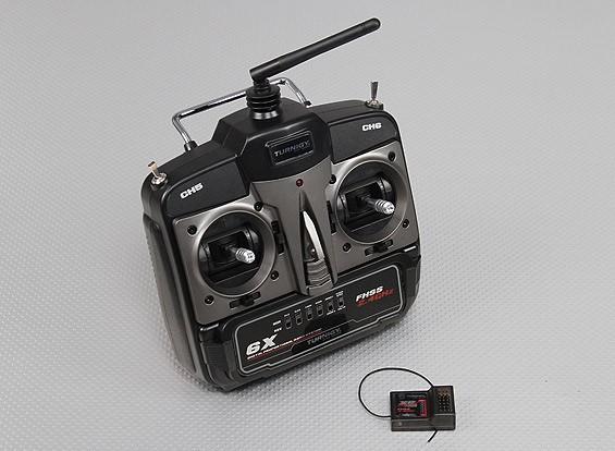 Rádio Turnigy 6 Canais-2.4ghz- Fhss -modo2- Receptor:xr7000   - King Models