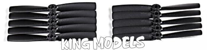 Hélice King Kong P/ Drones Racers-5045--5xpares - Preta  - King Models